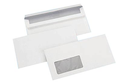Muller wegener enveloppe commerciale dl 110 x 220 mm for Enveloppe fenetre a gauche